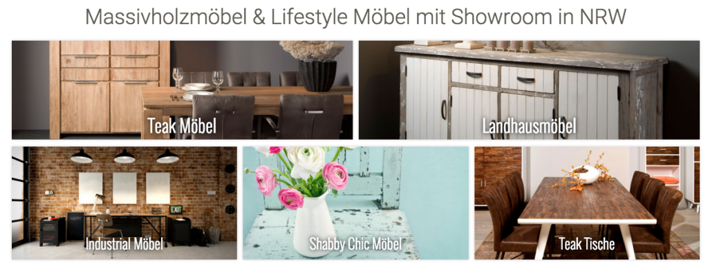Massivholzmöbel Shop Restyle24