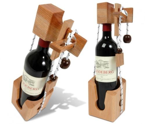 Gastgeschenk Flaschenpuzzle Weinflasche