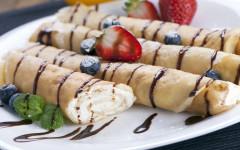Leckere Hauptmahlzeit – Pfannkuchen gefüllt mit Ricotta