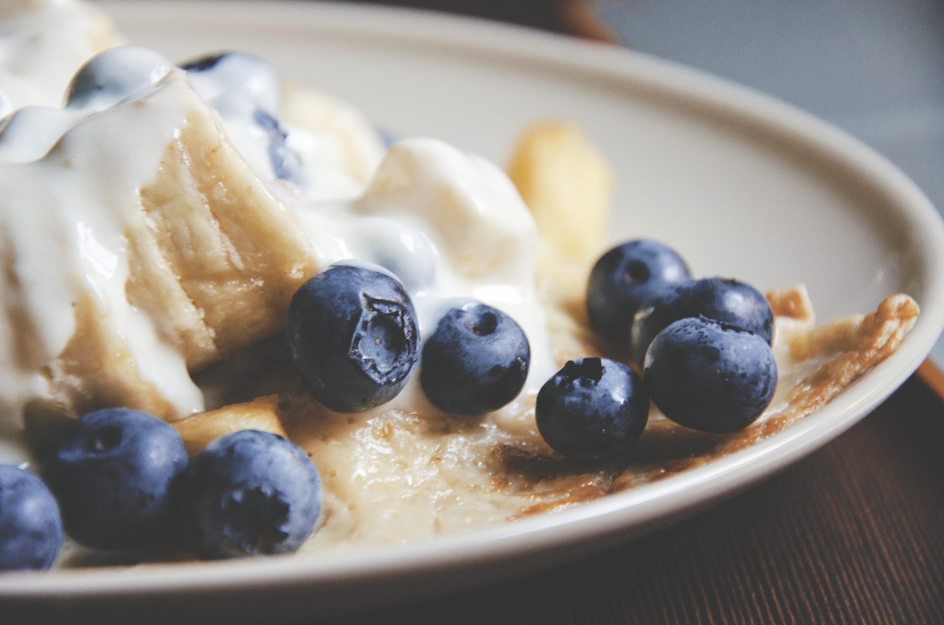 Kalorienarme Pfannkuchen Blaubeeren