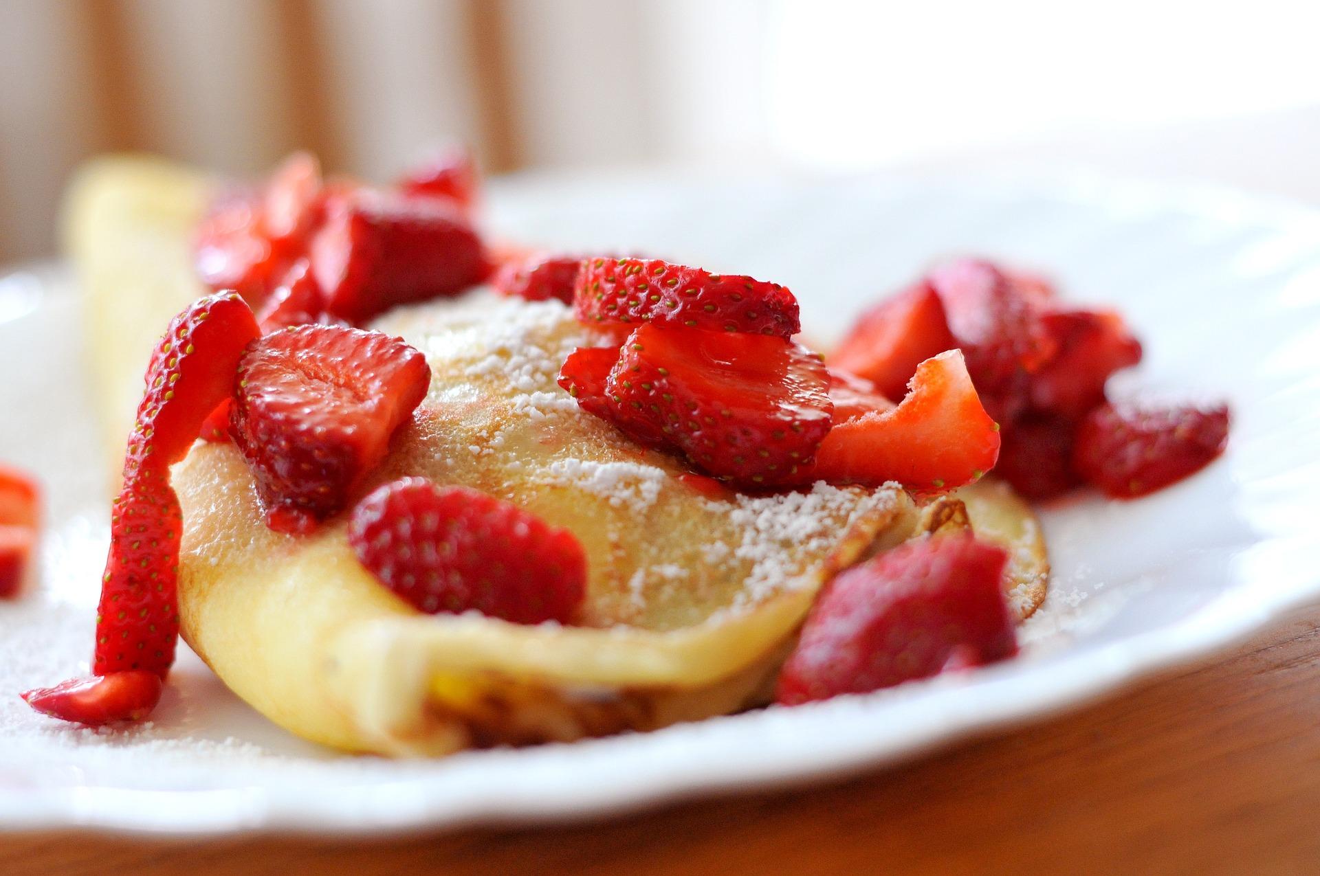 Kalorienarme Pfannkuchen Obst