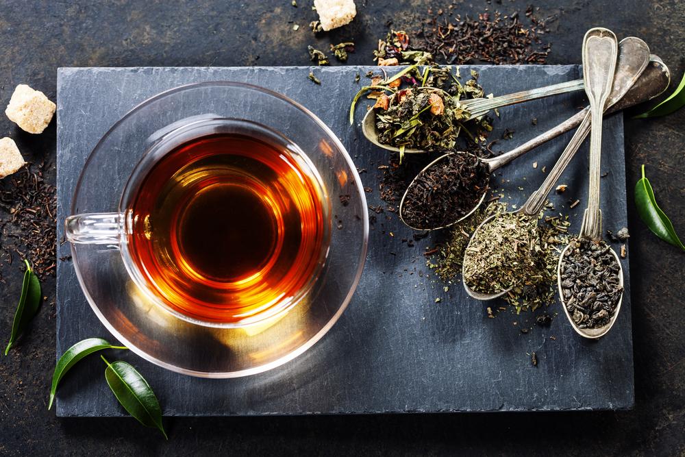 Wintertee aus verschiedenen Teesorten
